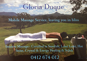 Gloria Duque therapist on Natural Therapy Pages