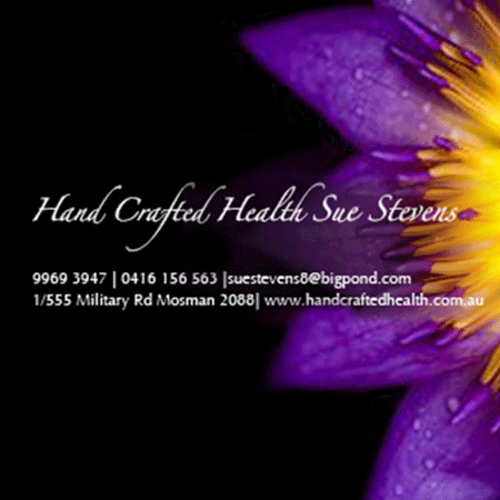 Sue Stevens - Hand Crafted Hea therapist on Natural Therapy Pages