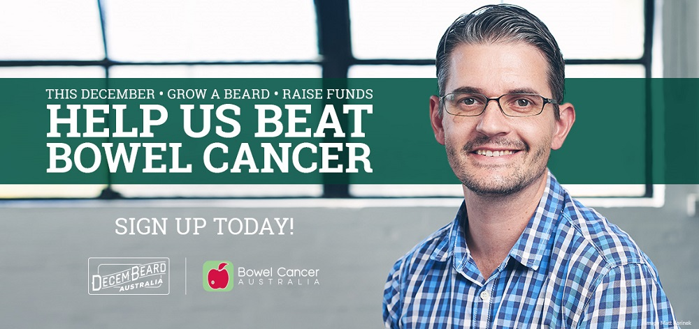 Decembeard 2019 for Bowel Cancer Awareness