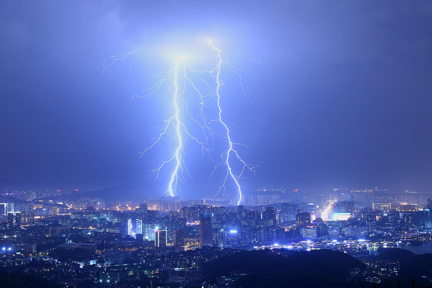 Astraphobia, fear of thunder and lightning