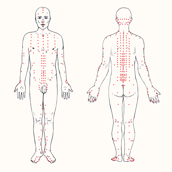Acupuncture points for weight loss chart